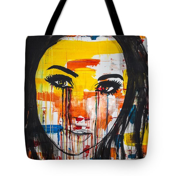Tote Bag featuring the painting The Unseen Emotions Of Her Innocence by Bruce Stanfield