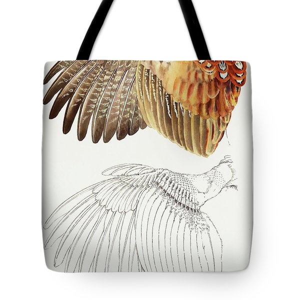The Upper Side Of The Pheasant Wing Tote Bag