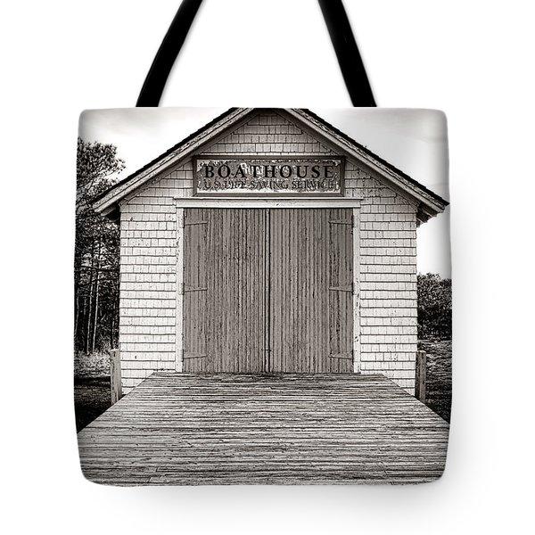 The U.s. Life Saving Service Boathouse Tote Bag