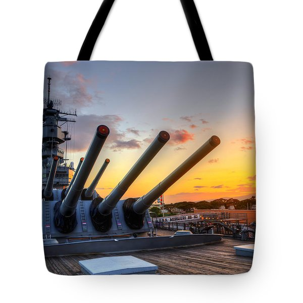 The Uss Missouri's Last Days Tote Bag