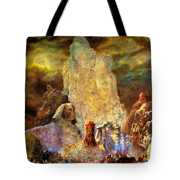 Tote Bag featuring the painting The Valley Of Sphinks by Henryk Gorecki