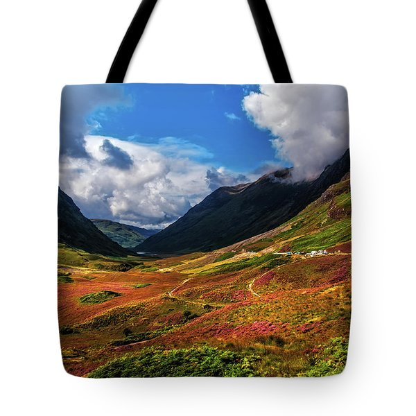 The Valley Of Three Sisters. Glencoe. Scotland Tote Bag