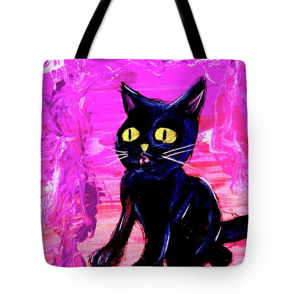 Tote Bag featuring the painting The Vampire Cat Baby Lestat by eVol i