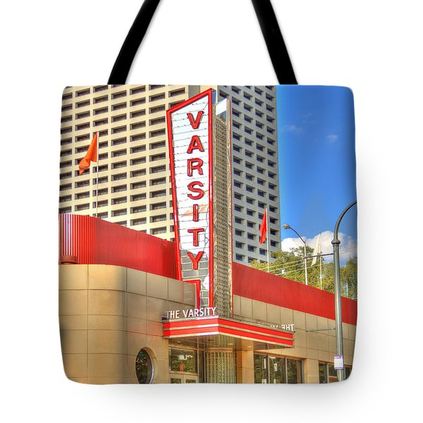 The Varsity Frontdoor Atlanta Georgia Landmark Art Tote Bag