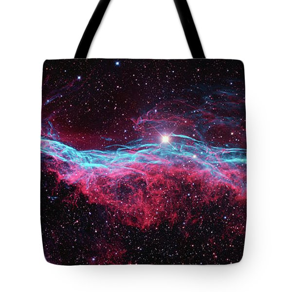 Tote Bag featuring the photograph The Veil Nebula by Nasa