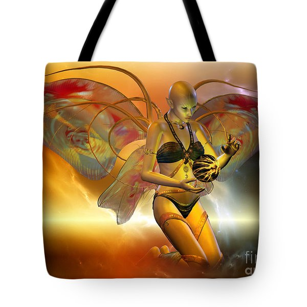 Tote Bag featuring the digital art the VENUSIAN by Shadowlea Is