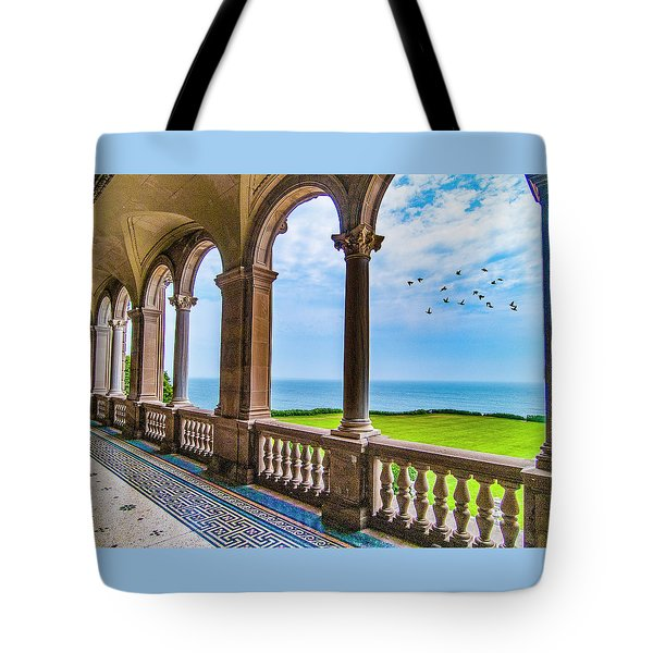 Tote Bag featuring the photograph The Veranda by Paul Wear