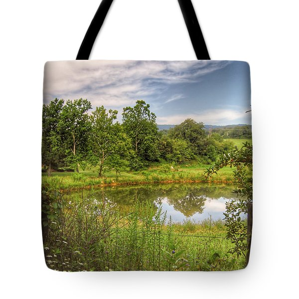 Tote Bag featuring the photograph The View Along Deerfield Trail by Kerri Farley