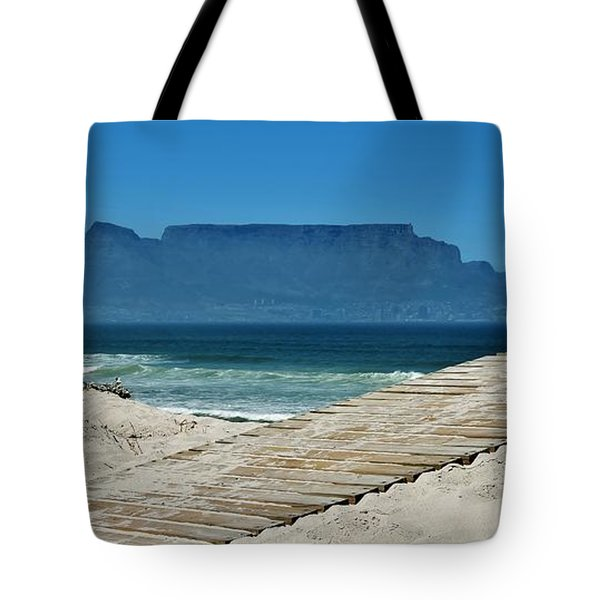 Tote Bag featuring the photograph The View At Table Mountain by Werner Lehmann