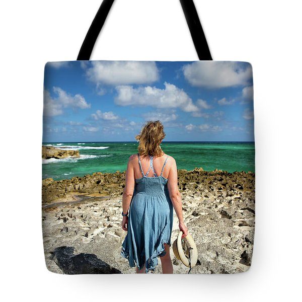 Tote Bag featuring the photograph The View by David Buhler