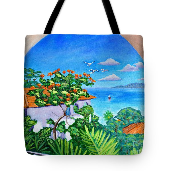 The View From A Window Tote Bag by Laura Forde
