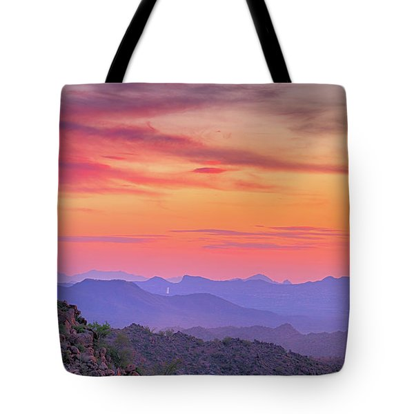 Tote Bag featuring the photograph The View From Above by Anthony Citro