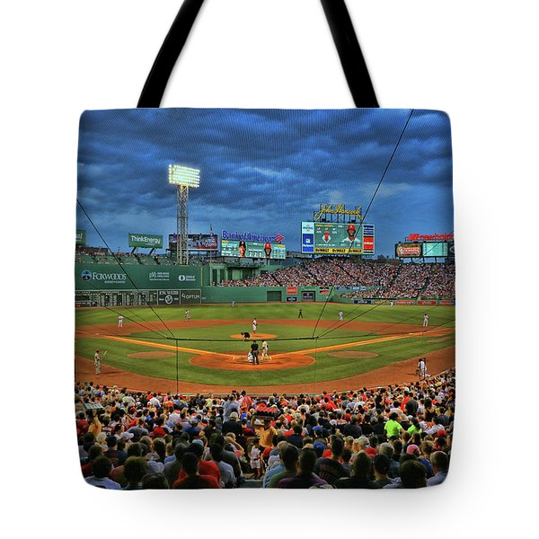 The View From Behind Home Plate - Fenway Park Tote Bag