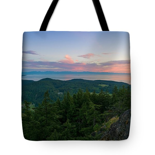 The View From Mt Erie Tote Bag by Ken Stanback