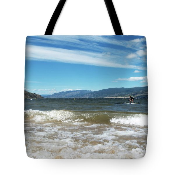 The View From Okanagan Beach Tote Bag