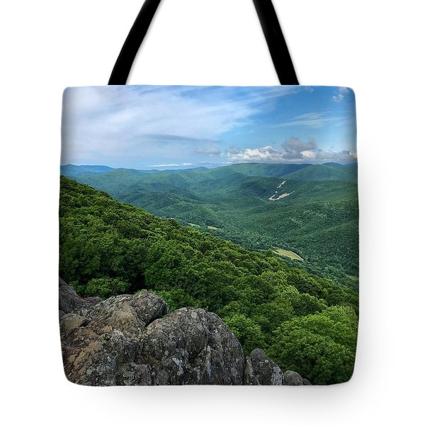 Tote Bag featuring the photograph The View From Raven's Roost by Lori Coleman