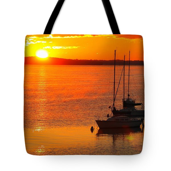 Tote Bag featuring the photograph The View by John Hartman