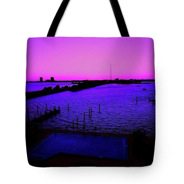 The Purple View  Tote Bag