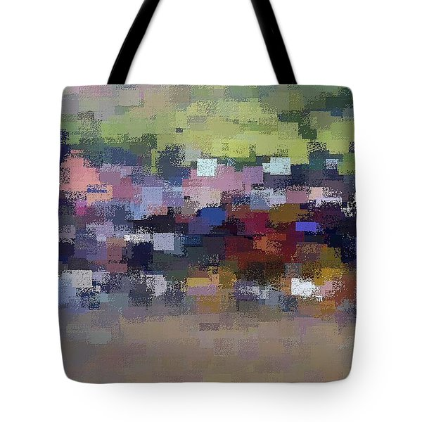 Tote Bag featuring the digital art The Village by David Manlove
