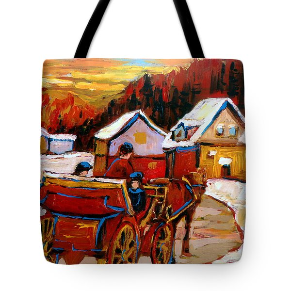 The Village Of Saint Jerome Tote Bag