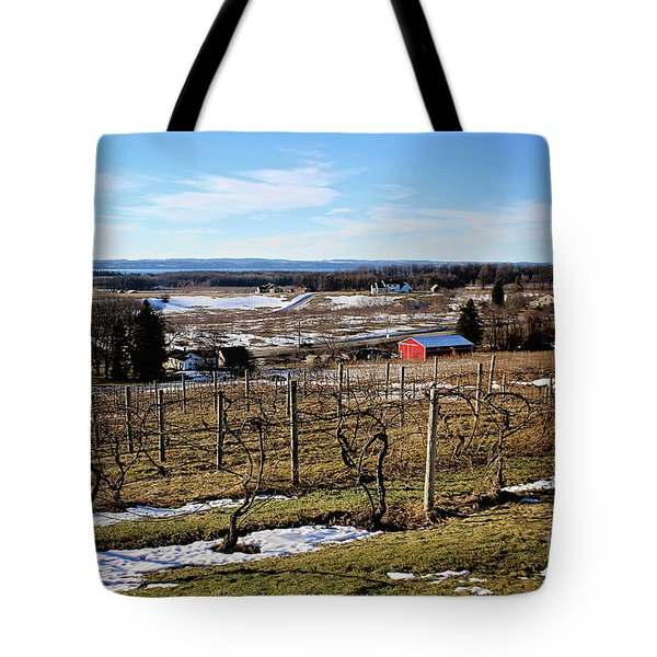 The Vineyard On Old Mission Tote Bag