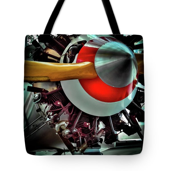 Tote Bag featuring the photograph The Vintage Stearman C-3b Biplane by David Patterson