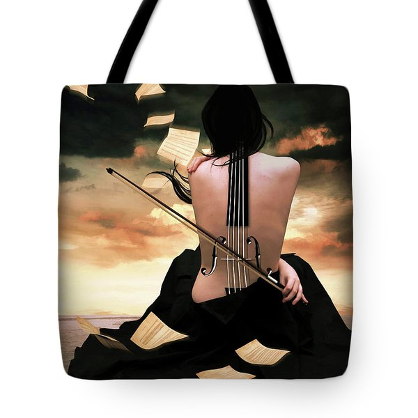 The Violin Song Tote Bag