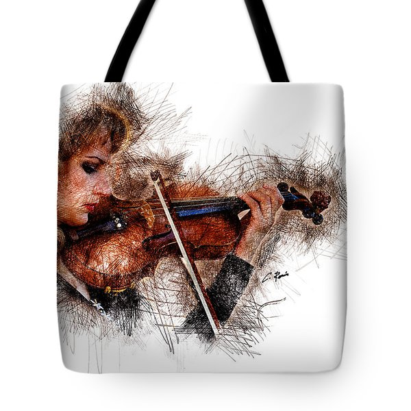 The Violinist Tote Bag