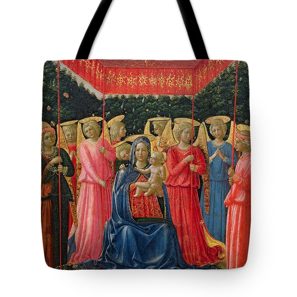 The Virgin And Child With Angels Tote Bag by Fra Angelico