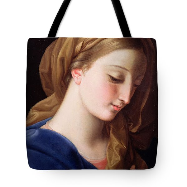 The Virgin Annunciate Tote Bag by  Pompeo Girolamo Batoni