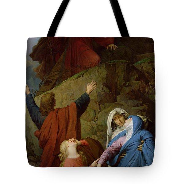 The Virgin Of Calvary Tote Bag by Jules Eugene Lenepveu