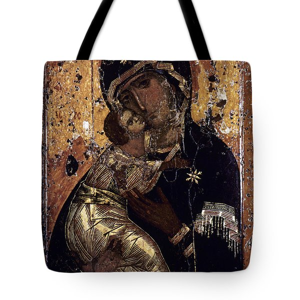 Tote Bag featuring the photograph The Virgin Of Vladimir by Granger