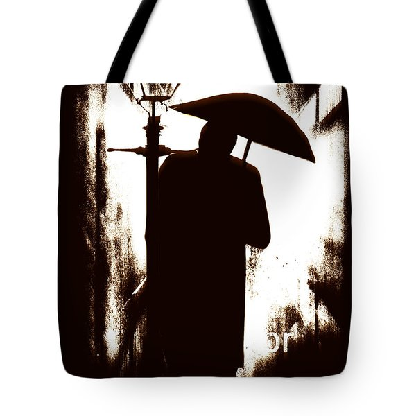 Tote Bag featuring the digital art The Visitor  by Fine Art By Andrew David