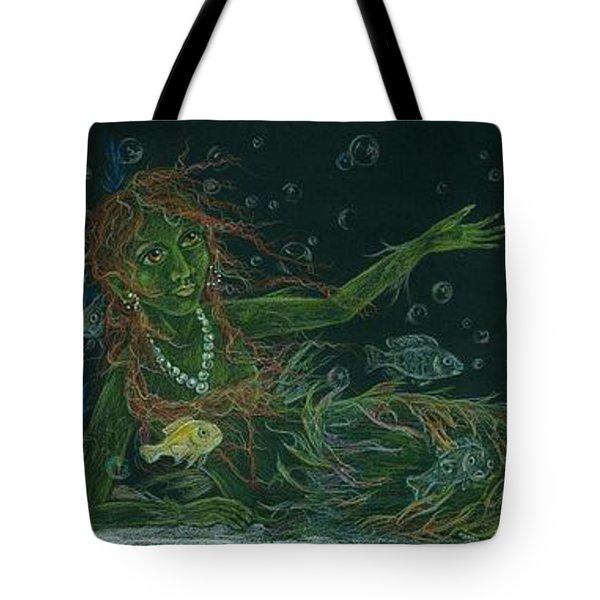 Tote Bag featuring the drawing The Visitor by Dawn Fairies