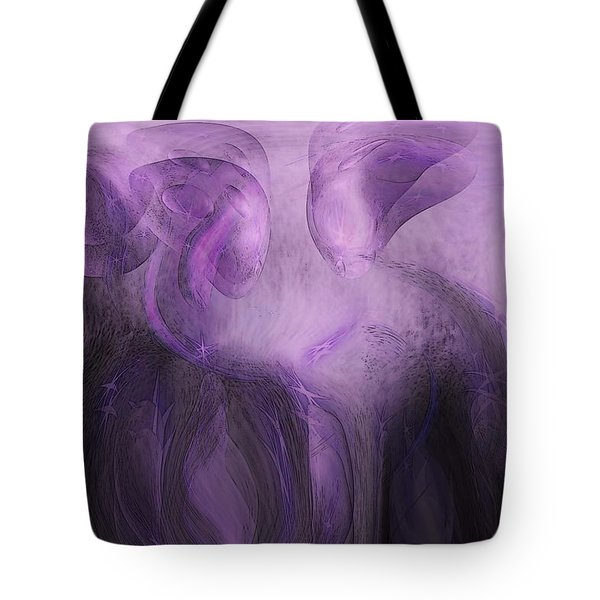 The Visitors Tote Bag by Linda Sannuti