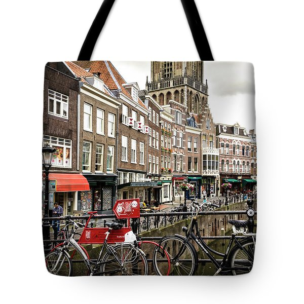 Tote Bag featuring the photograph The Vismarkt In Utrecht by RicardMN Photography