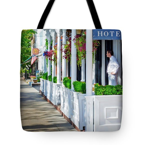 The Waiter Tote Bag by Keith Armstrong