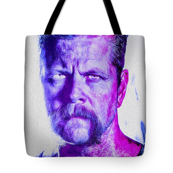 The Walking Dead Michael Cudlitz Sgt. Abraham Ford Painted Tote Bag