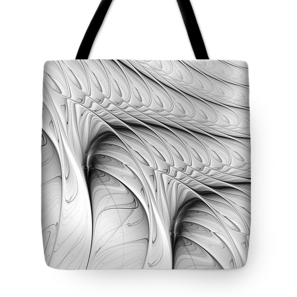 Tote Bag featuring the digital art The Wall by Anastasiya Malakhova