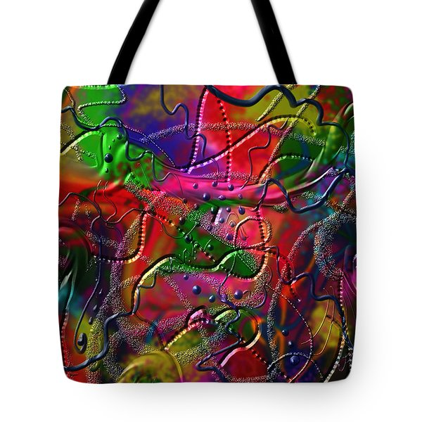 Tote Bag featuring the painting The Wall by Kevin Caudill