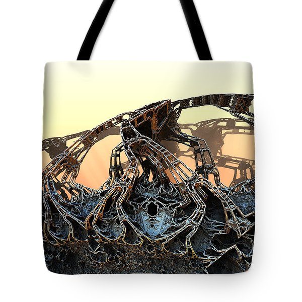 The Walls Came Tumbling Down Tote Bag