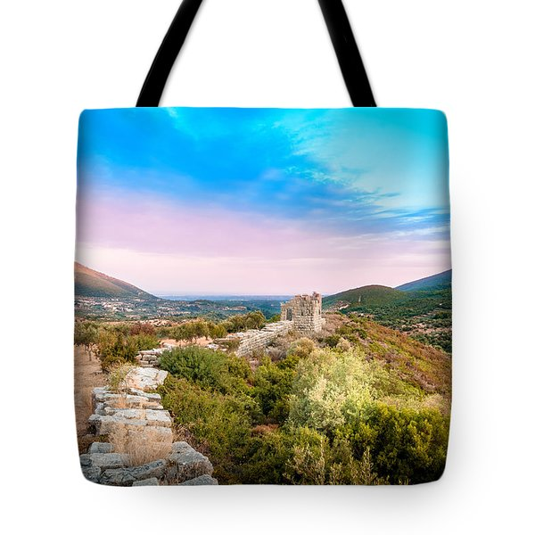 The Walls Of Ancient Messene - Greece. Tote Bag