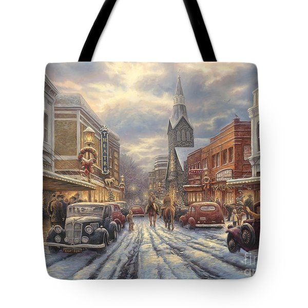 The Warmth Of Small Town Living Tote Bag