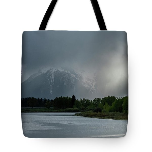 Tote Bag featuring the photograph The Warning by Sandra Bronstein