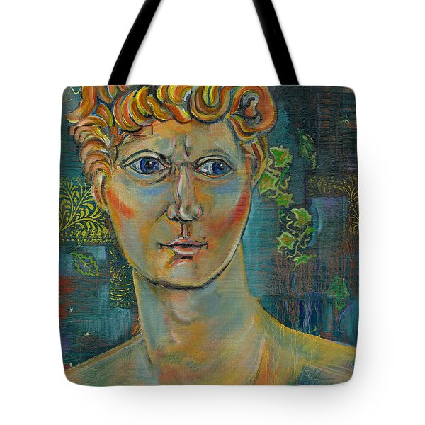 Tote Bag featuring the painting The Warrior by John Keaton