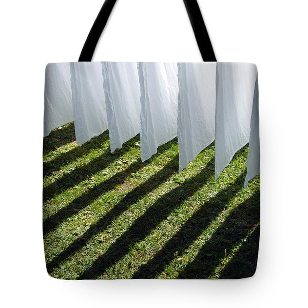 The Washing Is On The Line - Shadow Play Tote Bag