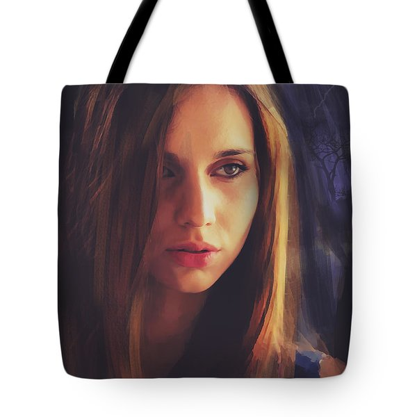 Tote Bag featuring the digital art The Watch by Galen Valle