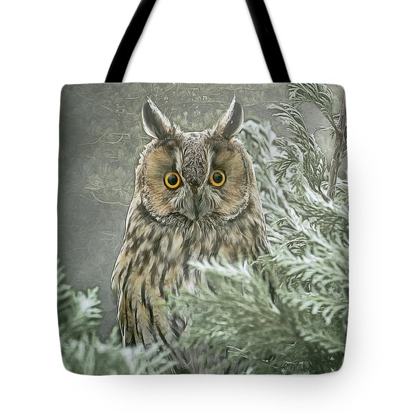 The Watcher In The Mist Tote Bag