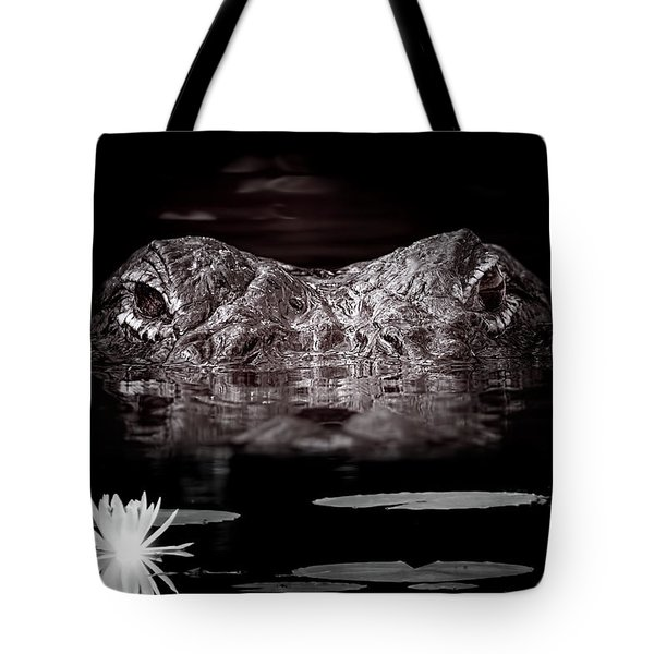 The Watcher In The Water Tote Bag by Mark Andrew Thomas