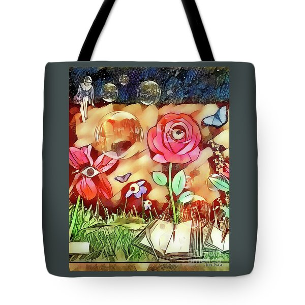 Tote Bag featuring the digital art The Watcher  by Jennifer Page